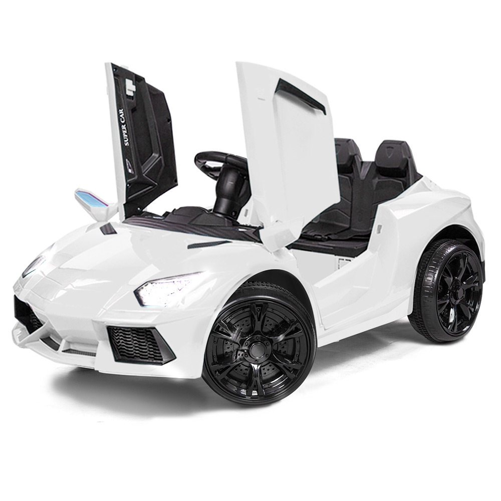ROVO KIDS Ride-On Car LAMBORGHINI Inspired Electric Toy Battery Remote White
