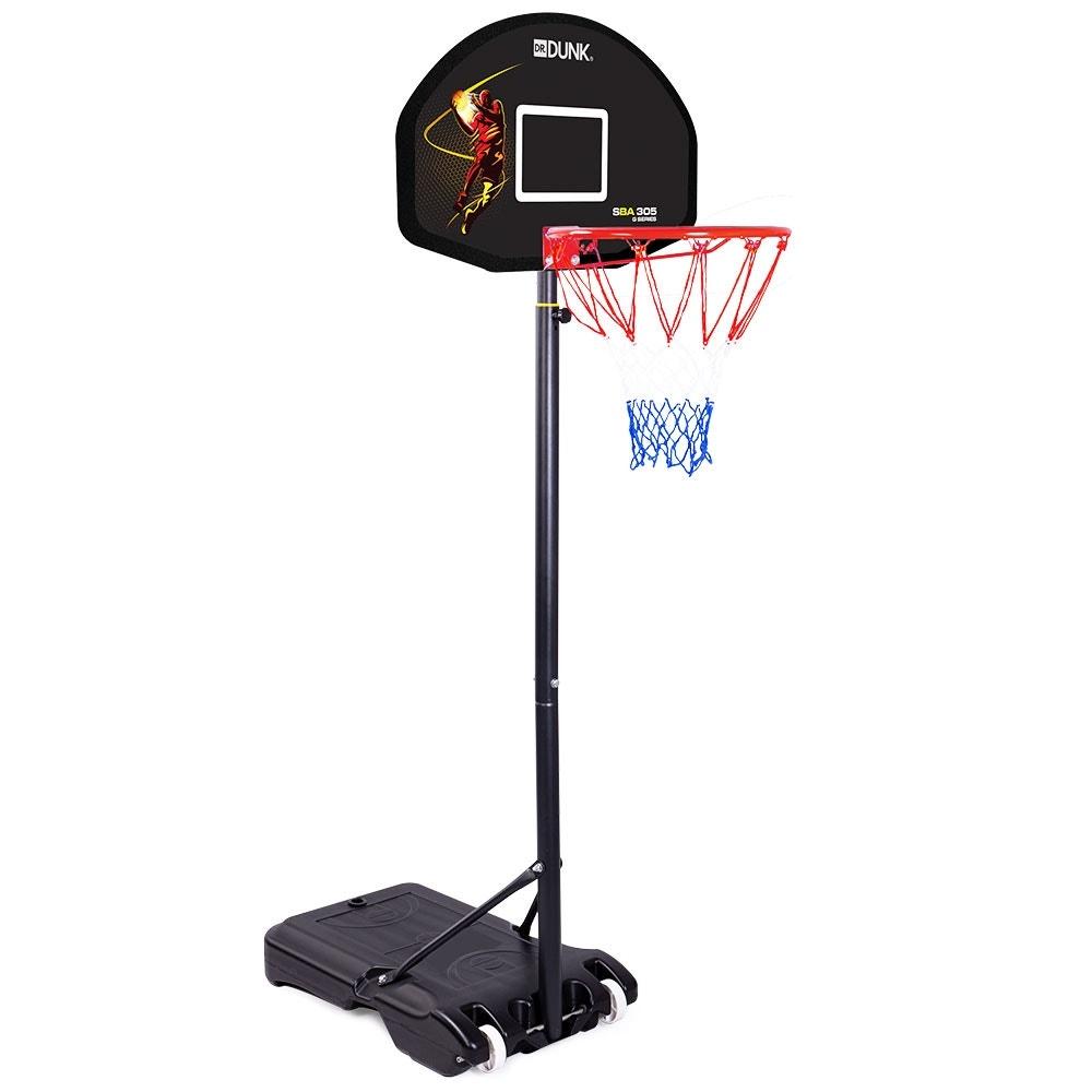 Dr. Dunk Black Height Adjustable Kids Basketball Hoop Stand