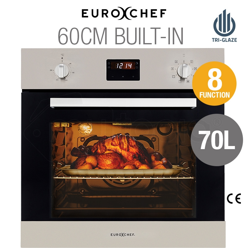 EuroChef 60cm 8 Functions Built-In Electric Wall Oven - OE708A