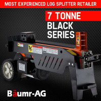 Baumr-AG 7 Ton Electric Hydraulic Log Splitter 7T Wood Axe Block Cutter Firewood