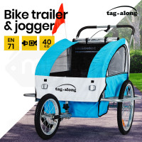 Tag-along Kids Bike Trailer Child Bicycle Pram Stroller Children Jogger Blue