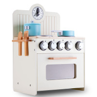 ROVO KIDS Retro Wooden Kitchen Toy Pretend Play Set Children Wood Oven Toddlers