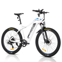"VALK eMTB Maxxis Velo Shimano 36V 250W Electric Mountain Bike 27.5"" White - MX7"