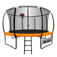 Up-Shot 14ft Round Trampoline FREE Basketball Safety Net Spring Pad Ladder