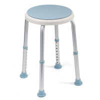 EQUIPMED Shower Chair Stool with Adjustable Swivel Seat Bath Aid Aluminium