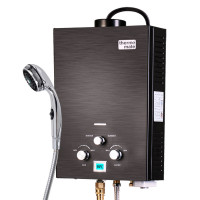 Thermomate Black Tankless Camping Shower Water Heater