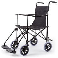 EQUIPMED Folding Transport Wheelchair Lightweight Seat Companion Rollabout