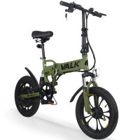 Valk Khaki 36V Folding Electric Bike - DualShock