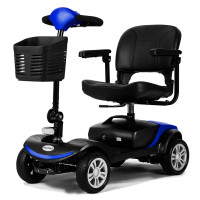 EQUIPMED FreeRoam Electric Motorised Mobility Scooter, Blue