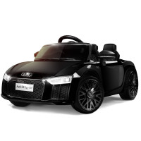 AUDI R8 SPYDER Licensed Electric Kids Ride On Car Battery Powered 12V, MP3 Player - Black