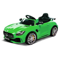 MERCEDES-BENZ AMG GTR Licensed Kids Ride On Car Battery Powered 12W, MP3 Player - Green
