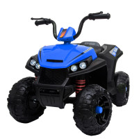 ROVO KIDS Electric Ride On ATV Quad Bike Battery Powered, MP3 Player - Black and Blue