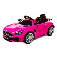 Kids Ride On Car Licensed Mercedes-Benz AMG GTR Electric Toy Pink