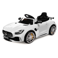 Kids Ride On Car Licensed Mercedes-Benz AMG GTR Electric Toy White