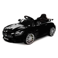 Kids Ride On Car Licensed Mercedes-Benz AMG GTR Electric Toy Black