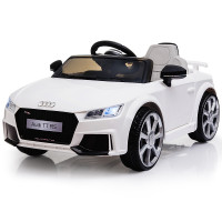 AUDI TT RS Licensed Electric Kids Ride On Car Battery Powered 12V, MP3 Player - White