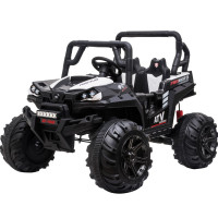 ROVO KIDS Electric Ride On ATV Quad Bike Battery Powered 12V, MP3 Player - Black