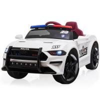 ROVO KIDS Mustang Inspired Electric Kids Ride On Car Battery Powered 12V - White