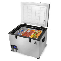 GECKO 70L 12V/24V/240V Portable Camping Fridge Freezer for Caravan Car