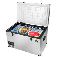 GECKO 85L 12V/24V/240V Portable Camping Fridge Freezer for Caravan Car