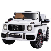 MERCEDES-BENZ AMG G63 Licensed Electric Kids Ride On Car Battery Powered 12V, MP3 Player - White