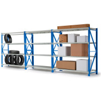 PRE-ORDER 3 x 2M x 2M 2700KG Metal Warehouse Racking Storage Garage Shelving Steel Shelves