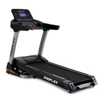 PROFLEX 4CHP Electric Treadmill, 8-Point Suspension, Auto Incline, MP3 Music, Pulse Sensors & Bonus Chest Strap
