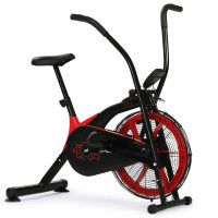 PROFLEX Air Bike, Pulse Sensors, Black and Red