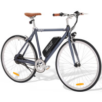 VALK Electric Lithium Powered Fixed Gear e-Bike, Matte Gunmetal