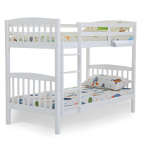 KINGSTON SLUMBER Single Kids Bunk Bed Frame Modular Wood White