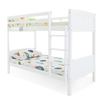 KINGSTON SLUMBER Bunk Bed Frame Single Modular Wood White Kids Double Deck Twin