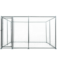 NEATAPET 3x3m or 4.5x1.5m Outdoor Chain Wire Dog Enclosure Kennel