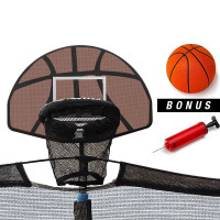 Up-Shot Trampoline Basketball Hoop Ring Backboard Ball Set Fits 10/12/14/15/16 ft