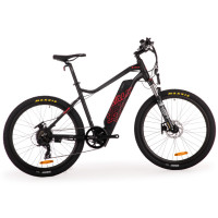 "VALK eMTB Maxxis Velo Shimano 36V 250W eBike Electric Mountain Bike  26"" Black - MX6"