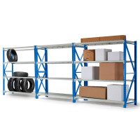 3 x 1.5M x 2M 2000KG Metal Warehouse Racking Storage Garage Shelving Shelves