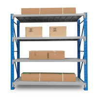 2m x 2m 900KG Metal Warehouse Racking Storage Garage Shelving Steel Shelves 4 Tier