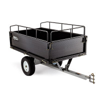 PLANTCRAFT Dump Cart Steel 1200LBS Tray - Tow Quad Garden Tip Trailer ATV Ride