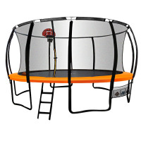 16ft Round Trampoline Basketball Set Safety Net Pad Spring Ladder