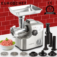 EuroChef Meat Grinder Electric Commercial Mincer Sausage Filler Kebbe Maker