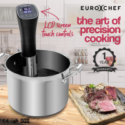 EuroChef Sous Vide Cooker Immersion Heater Circulator Precision Slow Kitchen
