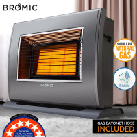 BROMIC Supaheat II Natural Gas Indoor Room Heater Portable Floor Flueless 80m²
