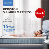 KINGSTON SLUMBER Double Mattress 16cm Medium Firm Bonnell Innerspring