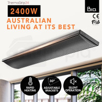 BIO 2400W Outdoor Strip Heater Electric Radiant Slimline Panel Heat Bar