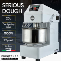 EUROCHEF Commercial 20L 1500W Spiral Dough Mixer Machine, 2 Speed