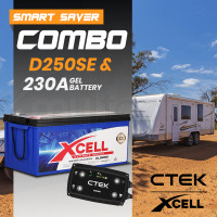 CTEK Dual Input D250SE Charger + X-CELL Deep Cycle 230A AGM Battery Bundle