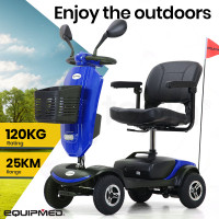 EQUIPMED Electric Mobility Scooter For Elderly Blue