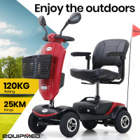 EQUIPMED Electric Mobility Scooter For Elderly Red