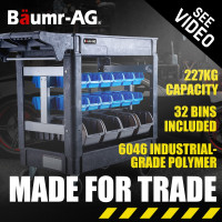 Baumr-AG Parts Bin Trolley Service Utility Cart Storage Mobile Tool Workshop