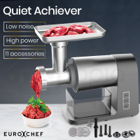 EUROCHEF 2000W Electric Meat Grinder Machine with Sausage and Kibbe Maker attachments