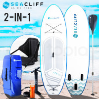 SEACLIFF Stand Up Paddle Board SUP Inflatable Paddleboard Kayak Surf Board White and Blue